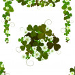 Decorative clover design - Stock Photo