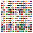Stock Vector: World flag icons set