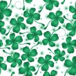 Clover leaves pattern design — Vector de stock