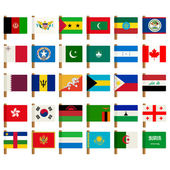World flag icons set 3 — Stock Vector