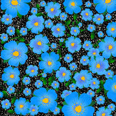 Blue floral background — Stockvektor