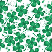 Clover leaves pattern design — Vettoriale Stock