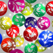 Christmas baubles design — Stock Photo