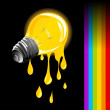Stock Photo: Draining light bulb