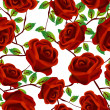 Stock Photo: Roses over white, pattern