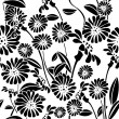 Seamless floral background, graphic pattern — Stok Vektör