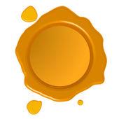 Golden wax seal — Stock Vector