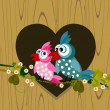 Birds in love — Stock Photo