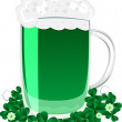 Stock Photo: Green beer