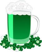 Green beer — Stock Photo