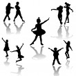 Dancing kids — Stockfoto