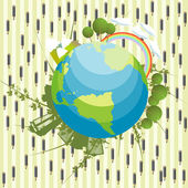 Abstrakt ekologiska bakgrund — Stockvektor