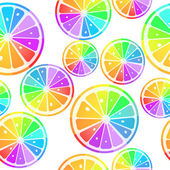 Lemons in rainbow colors — Stockvector