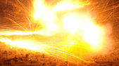 Explosion,fire,flame — Stock Photo