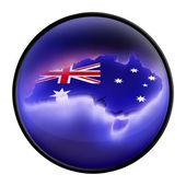 Map the Australia — Stock Photo