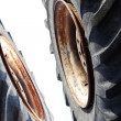 Wheel  rubber  old  diameter  big — Stock Photo