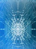 Glass broken cracks window — Stock Photo