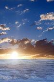 Sunset waves water sea — Stock Photo
