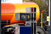 Fuel crane gaz station — Stock Photo
