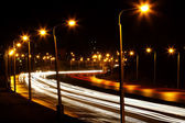 Road natten staden — Stockfoto