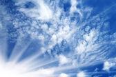 Sunrise sky clouds — Stock Photo