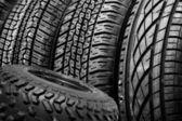 Wheel rubber disk — Stock Photo
