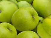 Apples green fruit background — Stock Photo