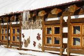 Casa chalé de madeira camping — Foto Stock