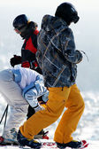 Groupe de ski sports d'hiver — Photo