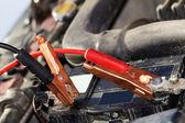 Accumulator car wire plug — Stock Photo