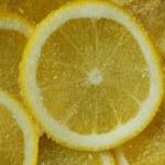 Fruit lemons segments sugar — Stock Photo