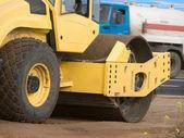 Resurfacing road wheel car — Stock Photo