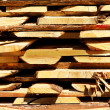Stock Photo: Board wood stack cut