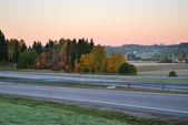 Finland before sunrise — Stock Photo