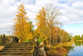 Gatchina Park in autumn. St. Petersburg — Stock Photo