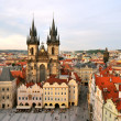 Prague, Tyn Cathedral of the Virgin Mary — Stockfoto