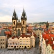 Prague, Tyn Cathedral of the Virgin Mary — ストック写真