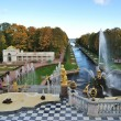 Peterhof. The Grand Cascade and the Sea Canal — Stock Photo