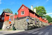 Stockholm. Old street in Sodermalm — Stock Photo