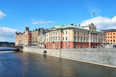 Embankment in central Stockholm — Foto de Stock