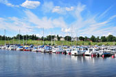 Sunny Harbor of Lappeenranta — Stock Photo