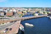 斯德哥尔摩的核心部分 — 图库照片