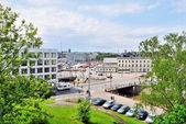 Helsinki. View of Channel and area Kauppatori — Stock Photo