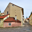 Prague. Old street in Hradcany — Stock Photo