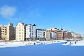 Helsinki. North Quay in winter — Stock Photo