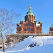 Helsinki. Assumption Cathedral in winter — Stock Photo #5046543