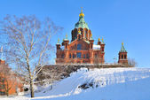 Helsinki. Assumption Cathedral in winter — Stock Photo
