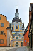 Stockholm, Church Katarinakyrkan — Stock Photo