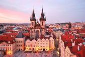 Prague. église de notre-dame de tyn — Photo