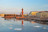 St. Petersburg, Vasilievsky island in spring — Stock Photo